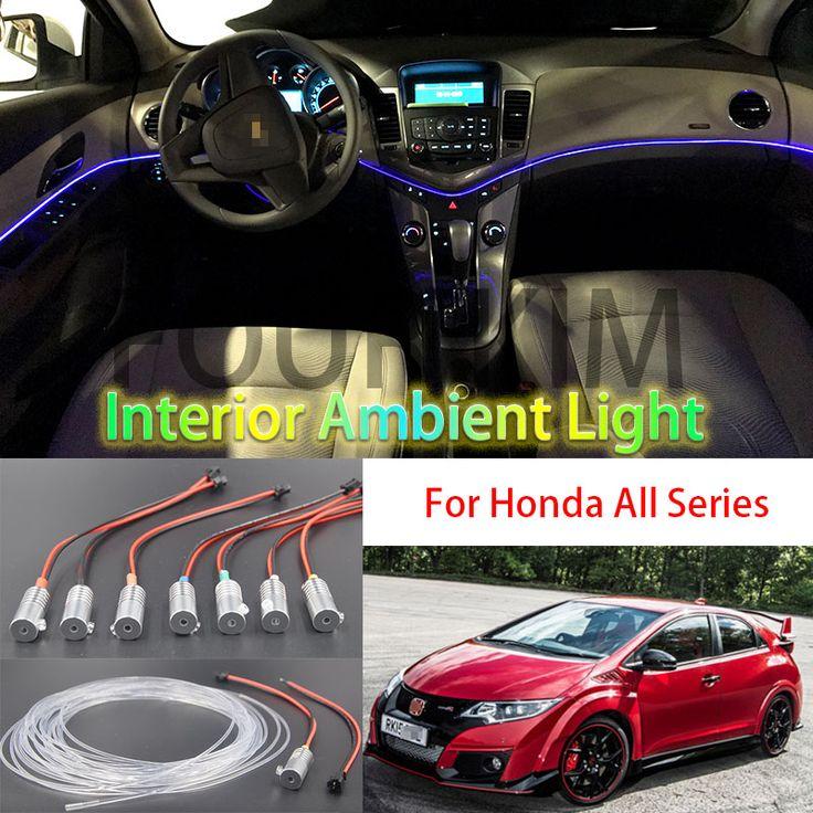 for Honda All Car Metal head high brightness Fiber optic lights Car Interior lights Ambient lamp Cold light Light guide belt