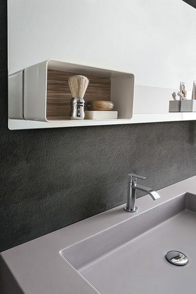 Magnetic mirror and accessories by Ronda Design #magnetika #mirror #case #bathroom #RondaDesign