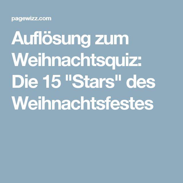 """Auflösung zum Weihnachtsquiz: Die 15 """"Stars"""" des Weihnachtsfestes"""