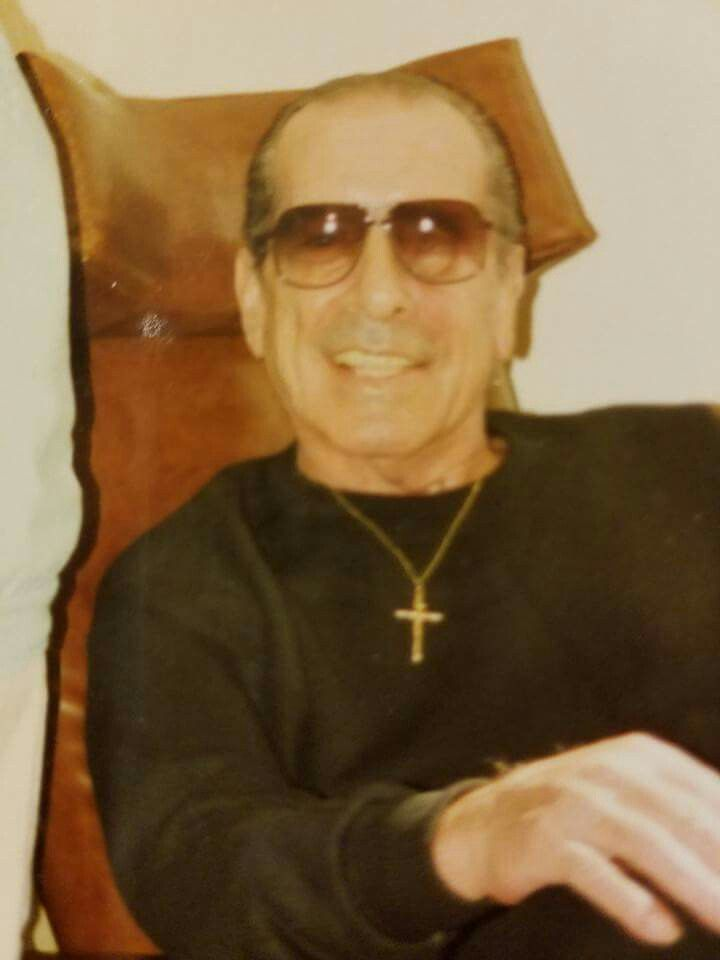 Greg scarpa Sr after he lost his right eye in a gunshot incident by some punk scum bag balled messy! This was took in hospice