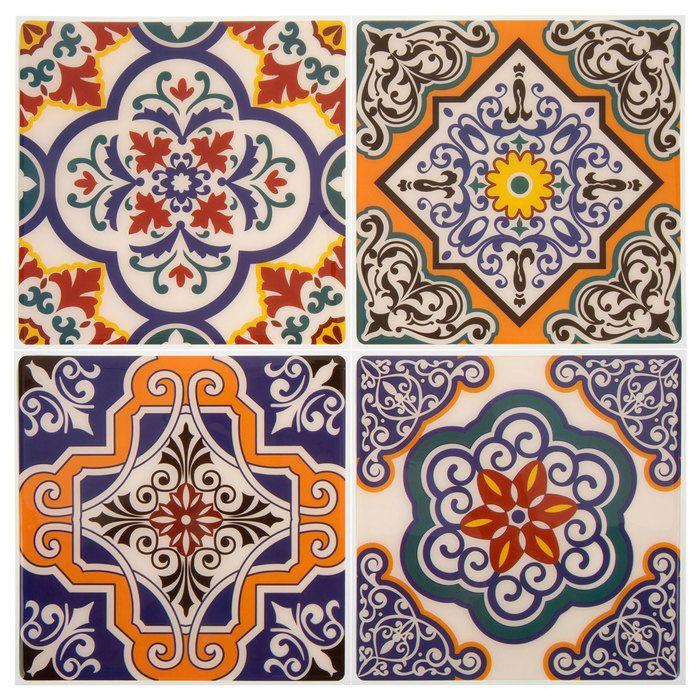 Orange Medallion Tile Adhesive Wall Art Hobby Lobby 1732908 In 2020 Adhesive Wall Art Wall Tiles Design Self Adhesive Wall Tiles