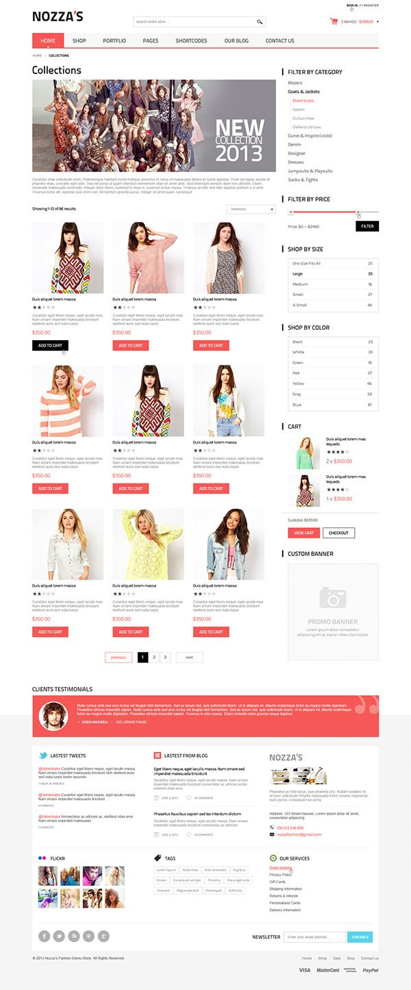 WooCommerce WordPress Theme - FashionZozza on Behance