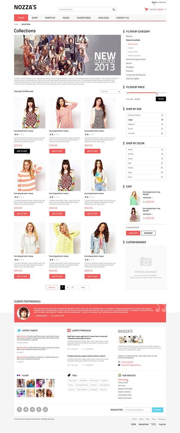 WooCommerce WordPress Theme - FashionZozza on Behance