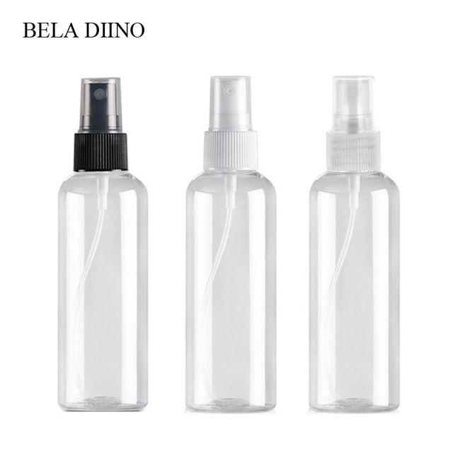 5pcs Fine Mist Plastic Pet Spray Bottle 100ml Travel Cosmetic Bottles Set Makeup Liquid Container Refillable Perfume Ato Refillable Bottles Bottle Spray Bottle