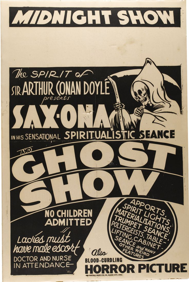 Ghost Show Poster #typehunter