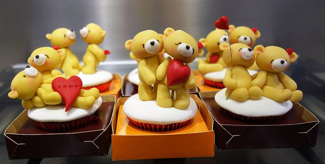 valentine bears cupcakes | Flickr - Photo Sharing!