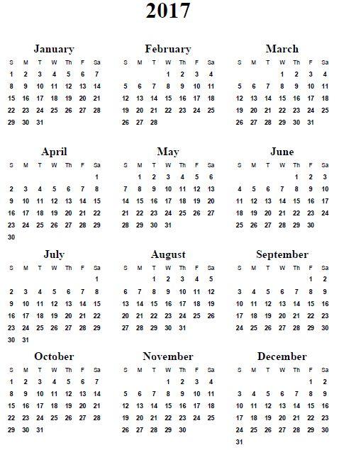 Make A Basic Customized Calendar Time And Date 25 Unique 2017 Calendar Printable Ideas On Pinterest