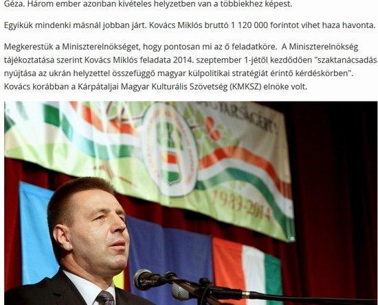Kovács Miklós havi milliója