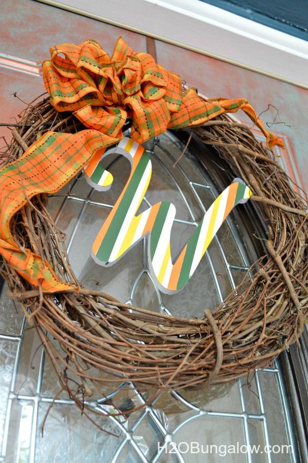 Front-Door-Wreath-With-Matching-Fall-Monogram-Doormat-H2OBungalow