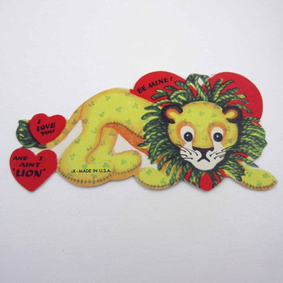 Vintage Children's Novelty Valentine Greeting Card with