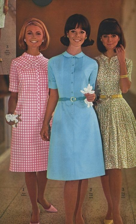 Summer dress styles, 1966,I was just starting high school.