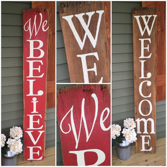 Two-Sided Reclaimed Barnwood Front Porch by ShopSimplyInspired