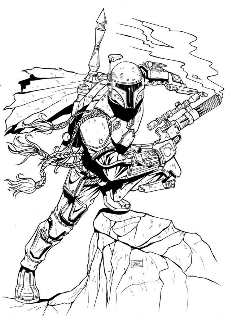 Boba Fett Coloring Pages (With images) Coloring pages