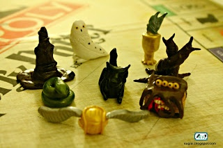 Game pieces for DIY Harry Potter Monopoly