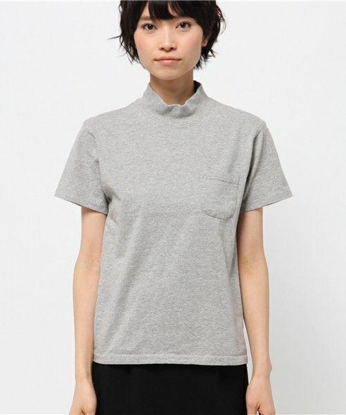 FREAK'S STORE WOMENS(フリークスストアウィメンズ)のVelva Sheen/ベルバシーン 別注MOC NECK TEE                     (Tシャツ/カットソー)|詳細画像