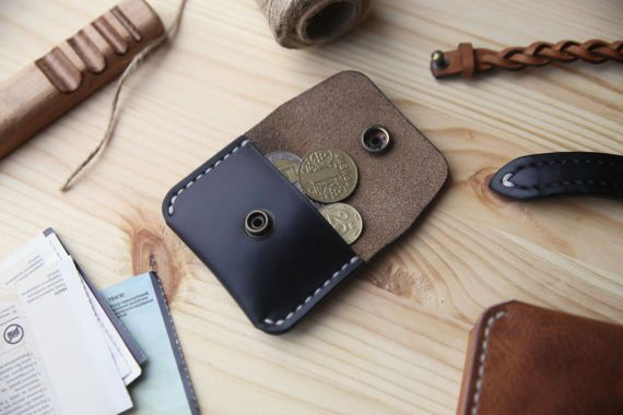 Coin purse Leather coin purse Leather coin by Manufacturabrand