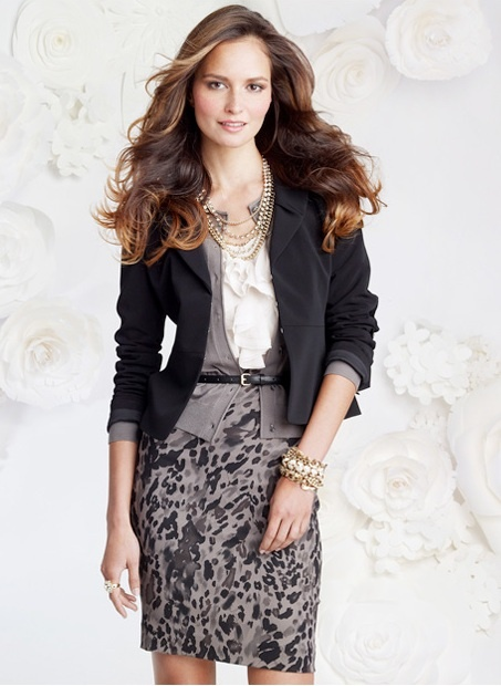 Ann Taylor.  I like the feminine details.  I'd never have thought to put this outfit together.