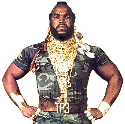 He's been doin it since its been done son ..big gold chains & mohawks  Mr T = Trendsetter  thank you for our swag sir vintage hip hop outfit