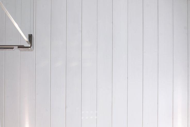 false ceiling in whitened wood
