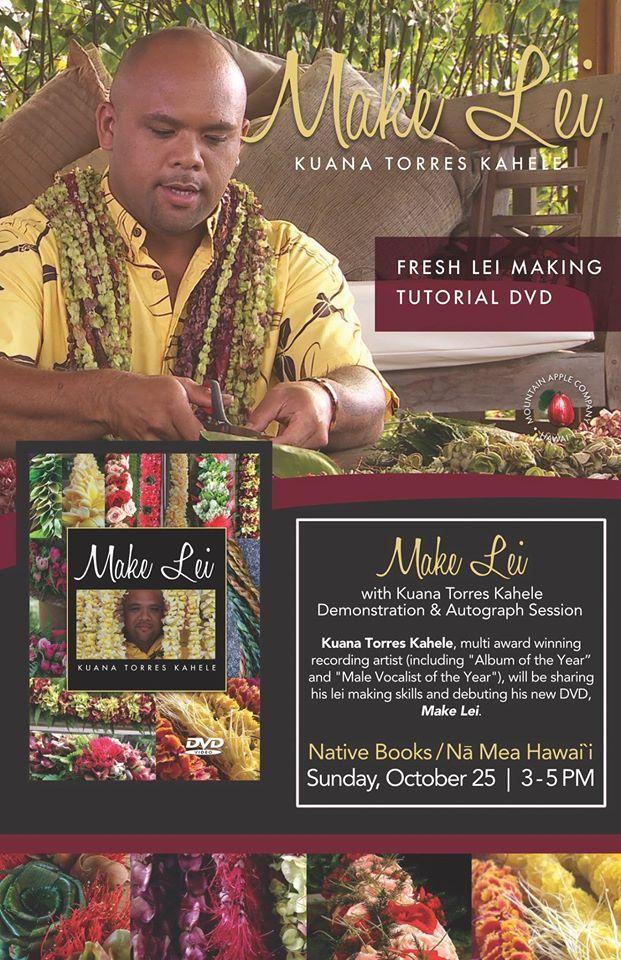 """Make Lei"" DVD instructional tutorial by Kuana Kahele."