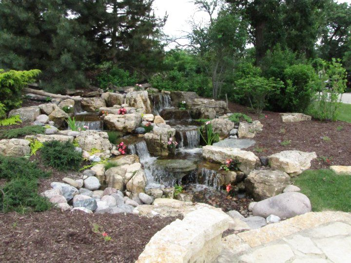 9 best landscape portfolio images on pinterest waterfall for Backyard pond maintenance