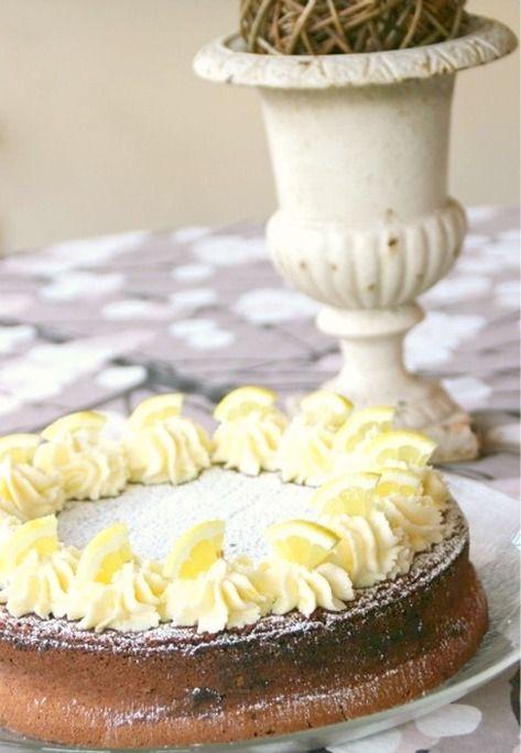 Torta Caprese with Espresso and Lemon Mascarpone
