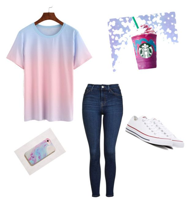 Unicorn outfit  by dyanak418 on Polyvore featuring polyvore, Topshop, Converse, Urban Outfitters, fashion, style and clothing