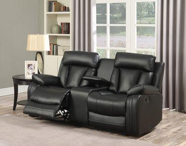 Meridian Furniture Avery Black Leather Loveseat