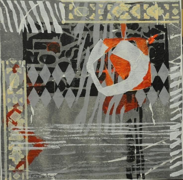 Monoprint by Rika De Klerk