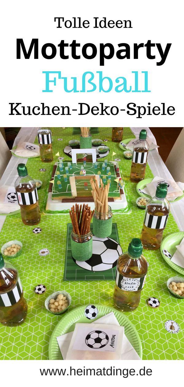 Fußball Geburtstag: Ideen für eine gelungene Fußball Party –