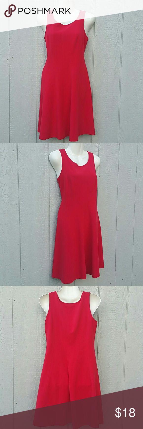 Anne Taylor Loft Red Tank  Midi Dress -Petite  -Made in China LOFT Dresses Midi