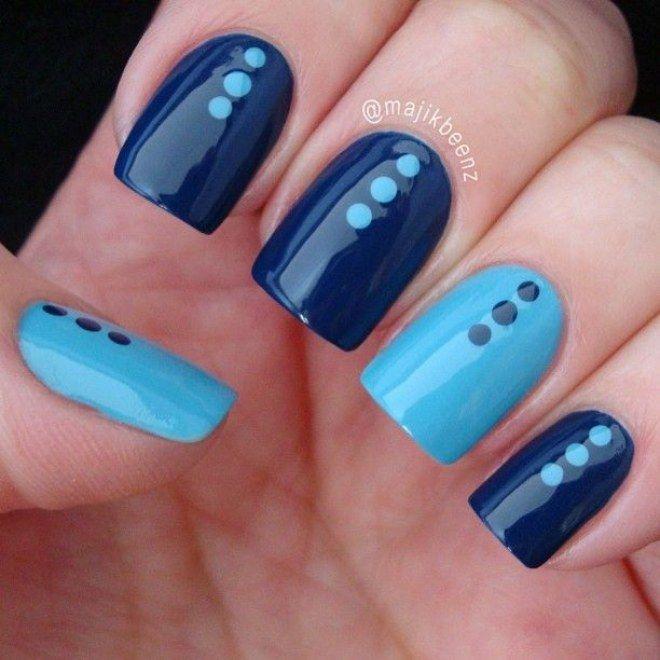 Azul marinho + turquesa | Unhas decoradas 2016