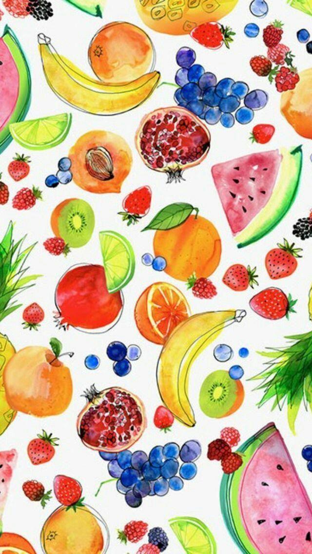 Nutrition Solution Coupon Fruit Wallpaper Summer Wallpaper Watercolor Fruit