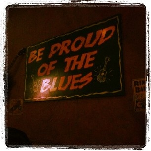 Sign inside of Bluesville at Horseshoe Casino Tunica