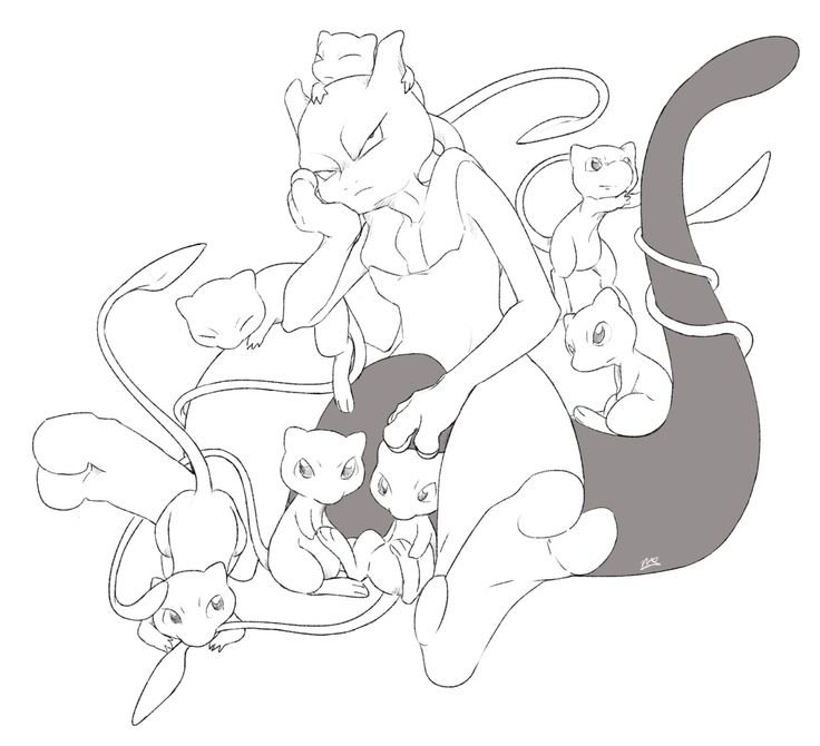Shiny Mewtwo Coloring Pages
