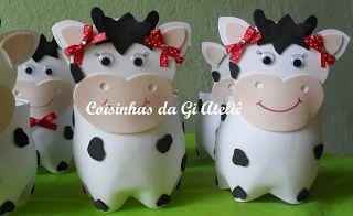 Coisinhas da Gi Ateliê: Bichinhos de Fazenda na Garrafa PET - Lembrancinha...