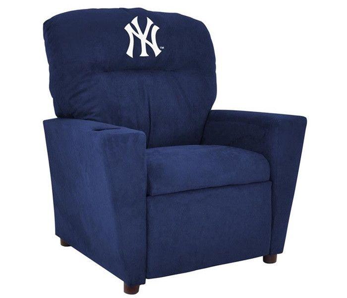 New York Yankees Microfiber Kids Recliner Chair