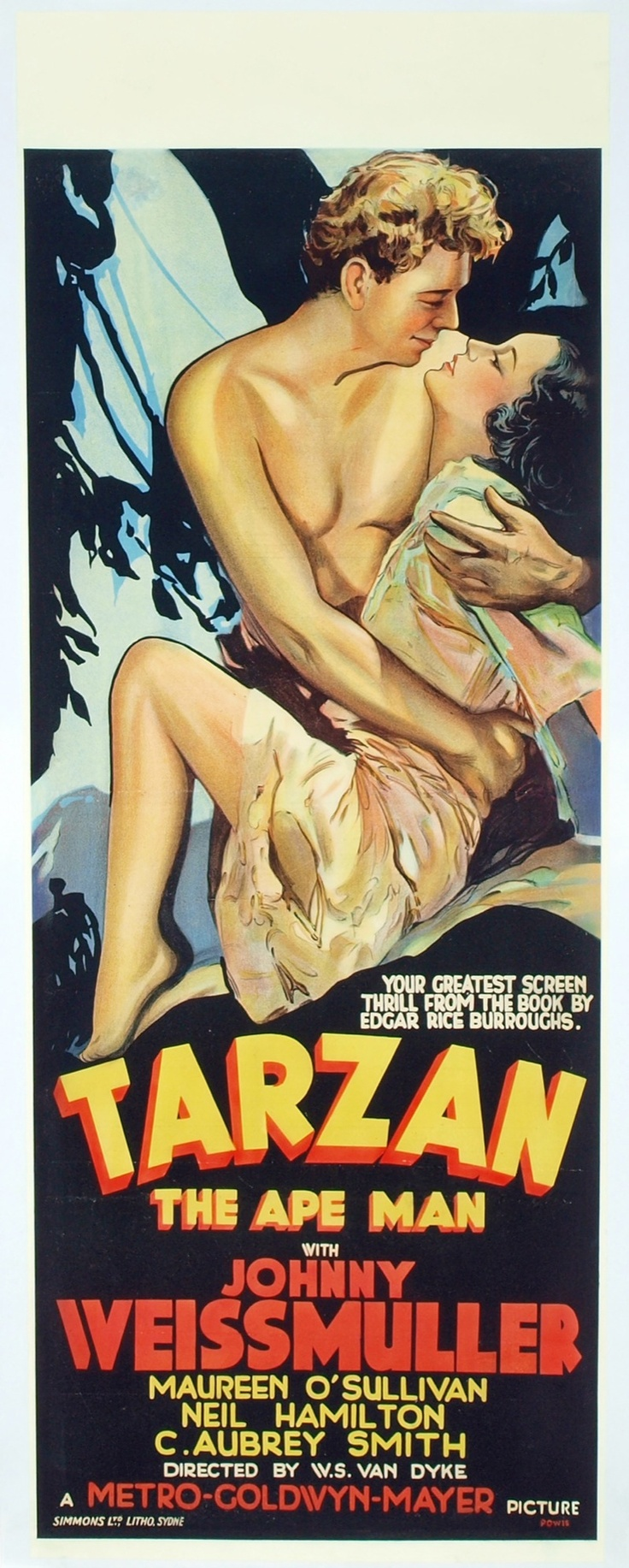 Tarzan the Ape Man, 1932, first of the Johnny Weismuller-Maureen O'Sullivan Tarzan movies.