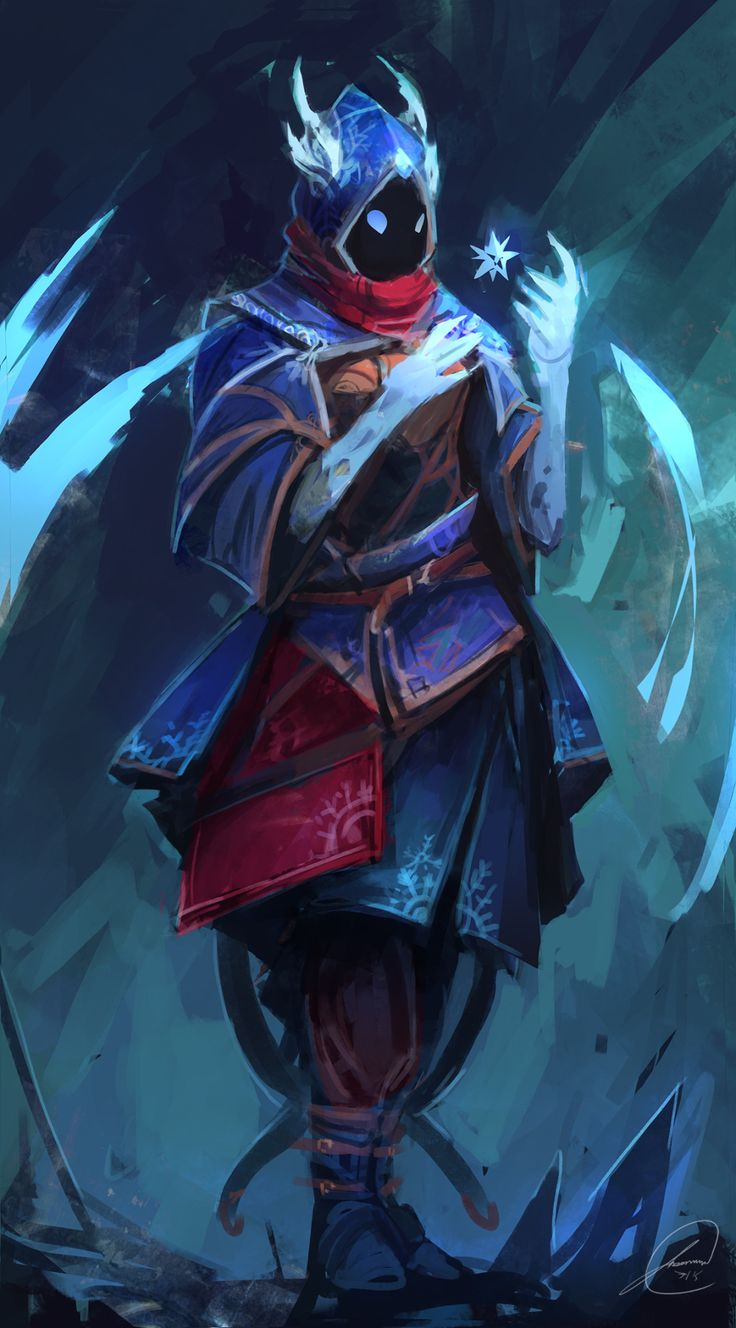 jasonarts:  I wanted to try painting an ice-type wizard :)Webiste  Deviantart ArtStation DrawCrowd  Prints