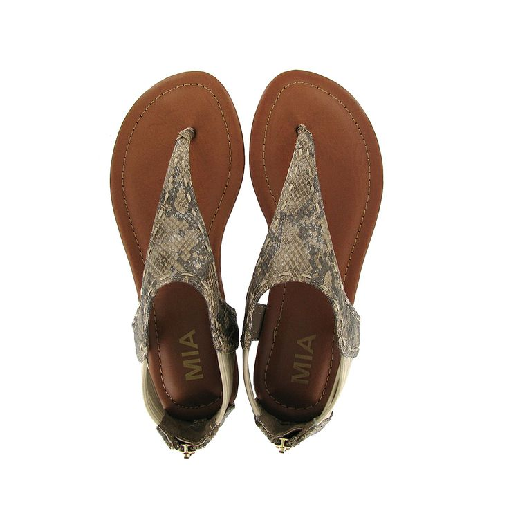 The MIA Castaway sandal gives the casual sandal a luxe update with a snakeskin print and amazing detailing.   Shop the Castawaya?? http://www.miashoes.com/castaway.html | See more about Sandals, Casual and Shops.