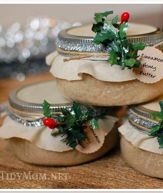 Cinnamon Honey Butter {gift in jar} recipe at TidyMom.net. ☀CQ #recipes