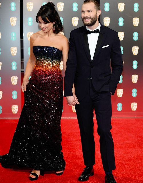 Jamie Dornan and his wife Amelia attends EE British Academy Film Awards on February, 12