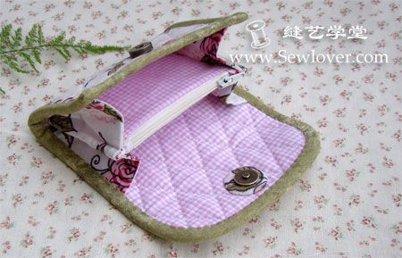 (via Organ fold wallet production tutorial - SewLover sewing arts school bag tutorial | bag pattern)