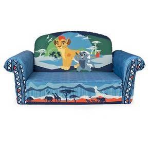 Marshmallow Furniture Childrenu0027s 2 In 1 Flip Open Foam Sofa   Disney Junior  The Lion Guard By Spin Master