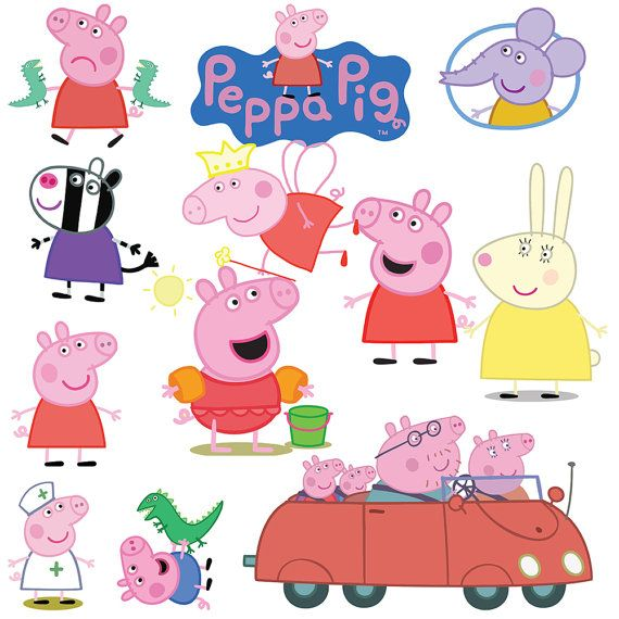 Peppa Pig Clipart 39 PNG Cartoon Digital by AmazingClipart on Etsy