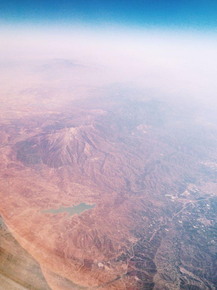 Flying towards Morocco