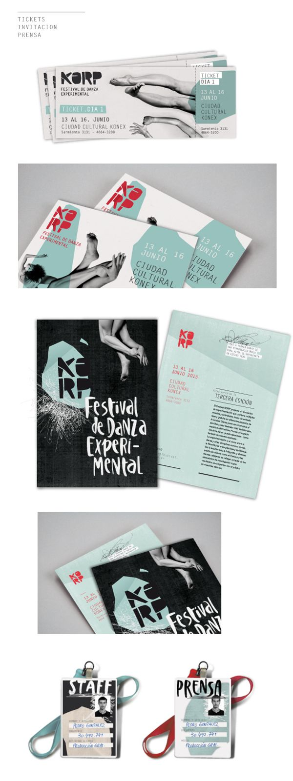 KORP. Festival de Danza Experimental - Parte I by Julia Moscardini, via Behance