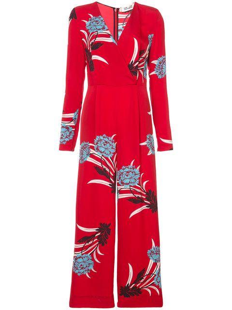 10961d8e53e6 Shop Dvf Diane Von Furstenberg floral jumpsuit. | maid | Floral ...