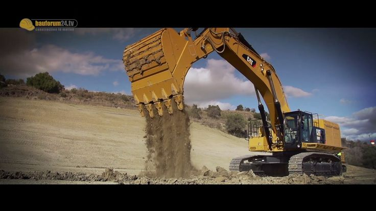 Caterpillar 374F & 390F im Einsatz - Neue Bagger der F-Serie 2014 - Bauf...