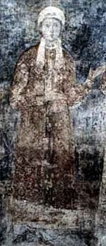 Anastasia of Kiev (c. 1023 – 1074/1096) was Queen of Hungary as the wife of King Andrew the White. She was the eldest daughter of Grand Prince Yaroslav I the Wise of Kiev and Ingigerd of Sweden, and the older sister of Anne of Kiev, Queen consort of Henry I of France. My 32nd or 33rd great grandma